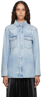 Givenchy Blue Denim Western Shirt