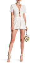 Do & Be Do + Be Lace Crisscross Romper