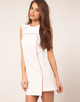 Asos Shift Dress with Fluro Piping