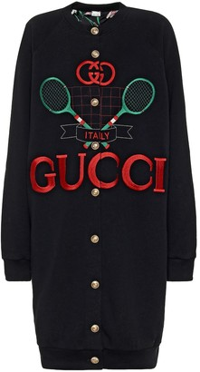 Gucci Reversible printed cotton cardigan