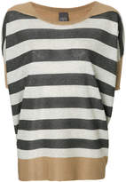 Lorena Antoniazzi colour block striped knit top