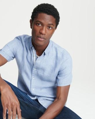 Rag & Bone Fit 2 short sleeve tomlin linen shirt