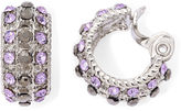 JCPenney MONET JEWELRY Monet Purple Stone and Marcasite Clip-On Hoop Earrings