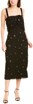Jason Wu Collection Crush Pleated Silk-Lined Midi Dress