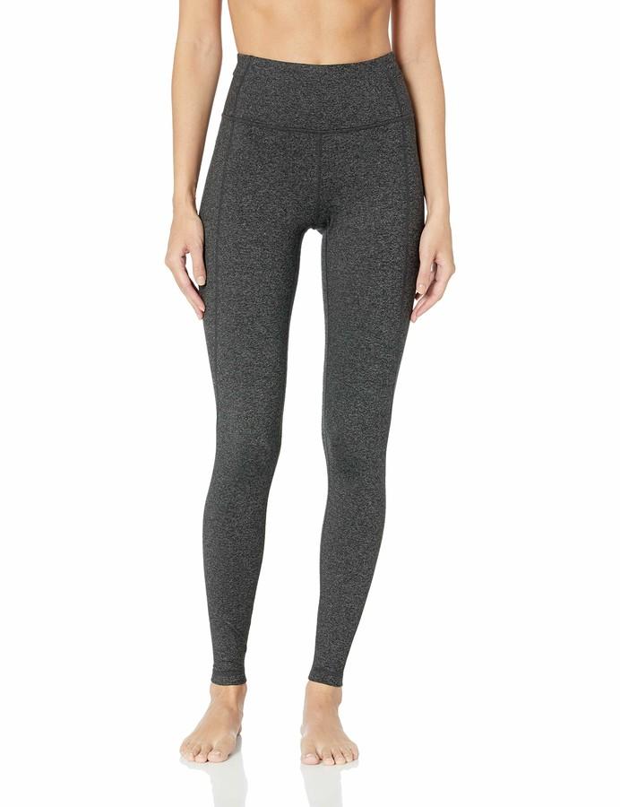 Core 10 Build Your Own Yoga Pant Full-Length Legging Dark Heather Grey High Waist L (12-14) - Tall