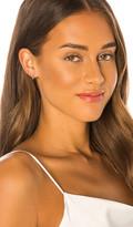 Ef Collection Mini White Diamond Bezel Huggie Earrings