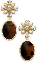 Charter Club Gold-Tone & Tortoise-Look Drop Earrings, Only at Macy's