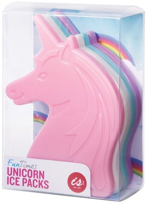 IS Gift Fun Times Ice Packs Unicorns Set of 4
