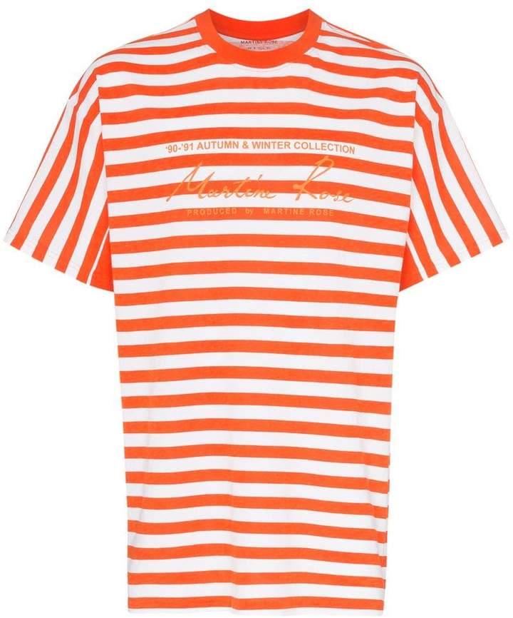 4ffad4c8f Orange Striped T-shirt Mens - ShopStyle