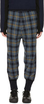 Stella McCartney Blue Plaid Stripe Lounge Pants