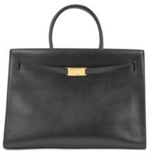 HUGO BOSS Tote bag in semi-structured leather with monogram hardware