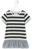 Douuod Kids - striped T-shirt dress - kids - Cotton - 9 mth