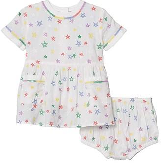 Stella Mccartney Kids Short Sleeve Stars Embroidered Dress (Infant) (Multi) Girl's Clothing