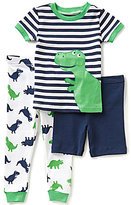 Little Me Baby Boys 12-24 Months Striped Pajama Tee, Dinosaur-Printed Pajama Pants, & Solid Shorts