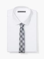 John Varvatos Linen Skinny Check Tie