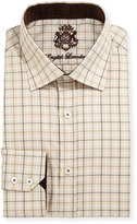 English Laundry Plaid Cotton Dress Shirt, Tan