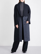 Jil Sander Dallas oversized herringbone wool-blend coat