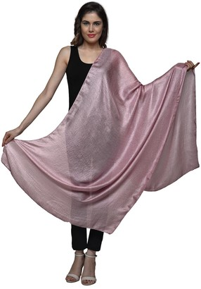 World of Shawls Exquisite Silky Textured Weave Effect Shawl/Scarf/Wrap for Occasion Party Wedding Bridal Bridesmaid