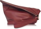 Diane von Furstenberg Origami Red Wine Leather Wristlet Handbag