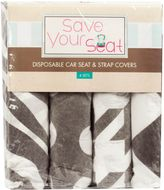 Save Your SeatTM Neutral Disposable Car Seat & Strap Covers in Black/White (Set of 4)