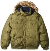 U.S. Polo Assn. Men's Big and Tall Short Snorkel Jacket with Faux Fur Trimmed Hood