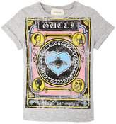 Gucci Vintage Print Cotton Jersey T-Shirt