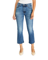 Thumbnail for your product : ÉTICA Josie Cropped Flare-Leg Jeans