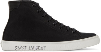 Saint Laurent Black Malibu Sneakers