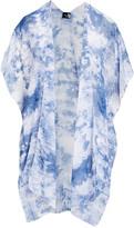 Lvs Collections LVS Collections Women's Kimono Cardigans SKYBLUE - Sky Blue Tie-Dye Kimono - Women