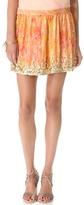 Haute Hippie Embellished Hem Miniskirt