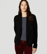 LOFT Textured Open Cardigan