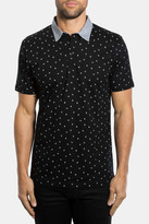 7 Diamonds Wildheart Print Mercerized Polo