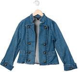 Little Marc Jacobs Girls' Denim Military Jacket