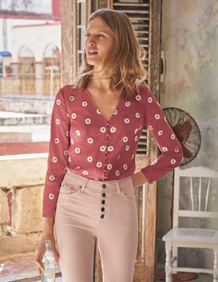 Boden Diana Embroidered Top