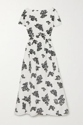 Erdem Fraser Fil Coupe Twill Midi Dress - White