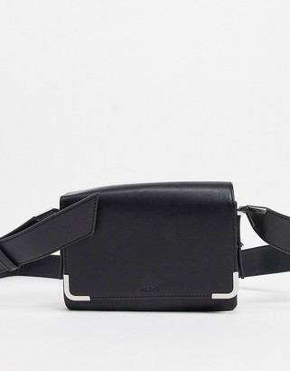 Aldo fold over cross body bag in black