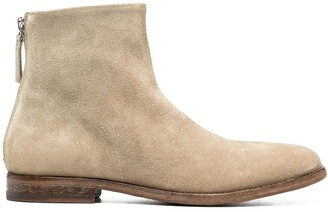 Moma Round Toe Suede Boots