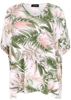 Yours Clothing YoursClothing Plus Size Womens Ladies Tee Top Shirt Top Palm Print