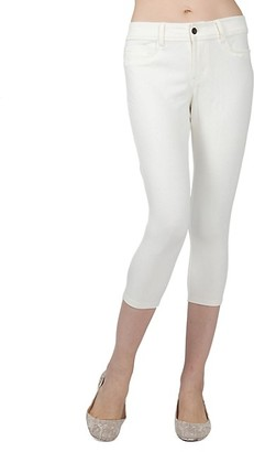 Me Moi Light Ponte Cotton-Blend Capri Leggings