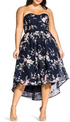 City Chic Aphrodite Strapless Dress