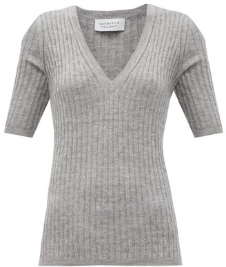 Gabriela Hearst Carolina V-neck Cashmere-blend Sweater - Grey