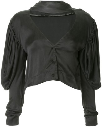 Georgia Alice Georgia cropped silk shirt