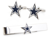 Ice Dallas Cowboys Cufflinks and Tie Bar Gift Set
