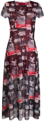 HUGO BOSS Patchwork Midi Shift Dress