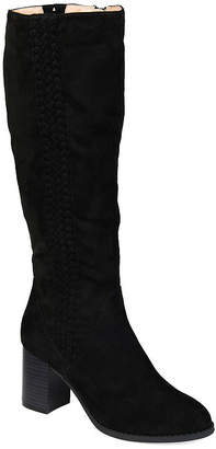 Journee Collection Womens Gentri Wide Calf Stacked Heel Over the Knee Boots