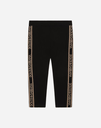 Dolce & Gabbana Interlock Leggings With Jacquard Logo Bands