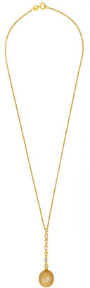 Assael Golden South Sea Pearl 18K 0.44 Ct. Tw. Diamond Pearl Necklace