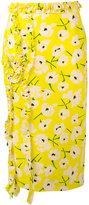 Rochas floral-print ruffle detail skirt - women - Silk - 42