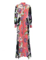 Diane von Furstenberg Floral Silk Shirt Dress