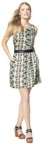 Mossimo Women's Sleeveless Dress w/ Faux Leather Trim -Geometric Print
